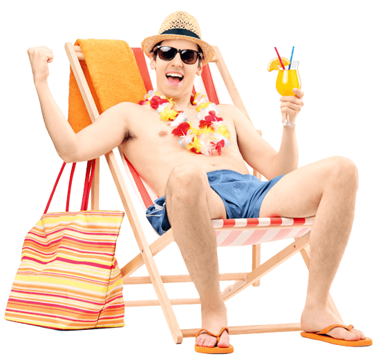 man relaxing on chair Home